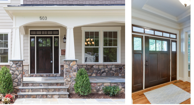 Good Simpson Craftsman Collection, With Three Panels And Three Lights.  Exterior Doors With Thermatru